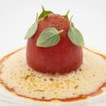 Gevulde tomaat a la Alain Passard