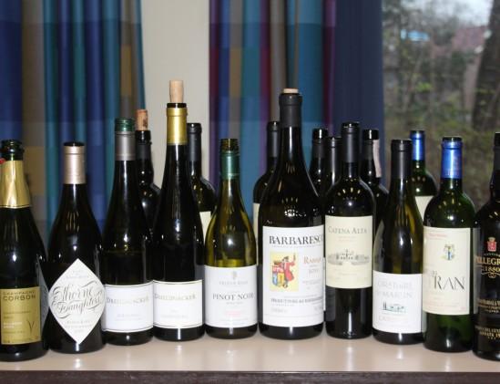 10 verschillende wijnen in de Masterclass Complexiteit in Wijn