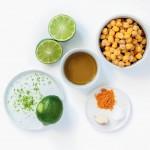 Ingrediënten hummus met limoen