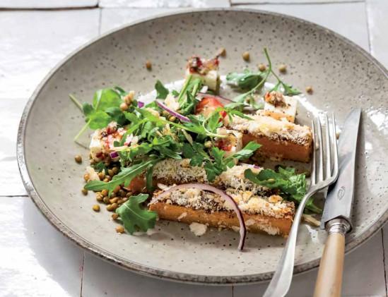 Winterse salade met pompoen, feta en walnoten uit het kookboek Veg van Hugh Fearnley-Whittingstall