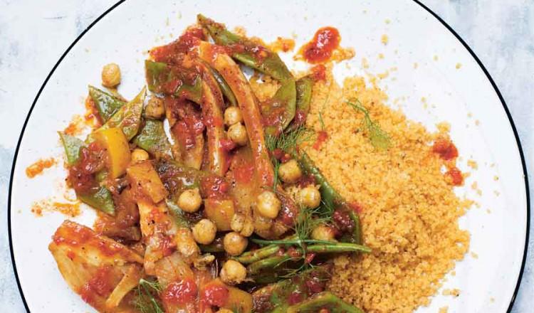 Couscous met venkel en snijbonen