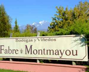 Uithangbord Fabre Montmayou in Argentinië