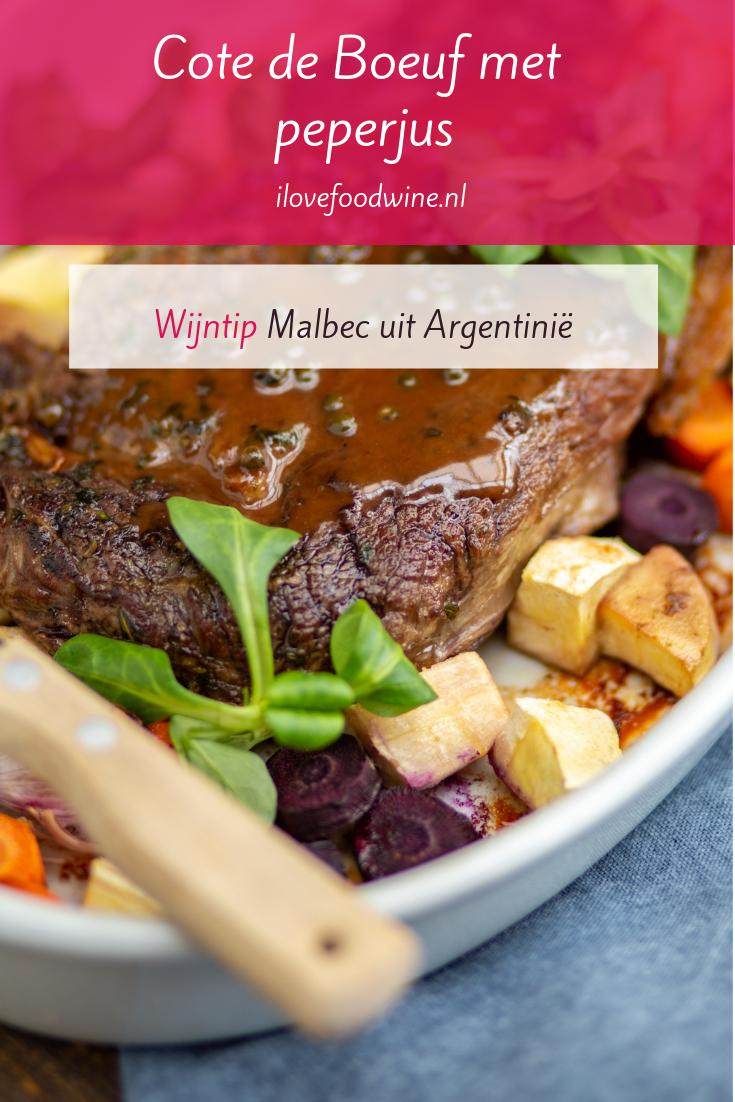 Recept: Cote de Boeuf met groenten uit de oven. Makkelijk rundvlees recept voor het weekend. Met peperjus. Geschikt voor de feesttafel met fijnproevers