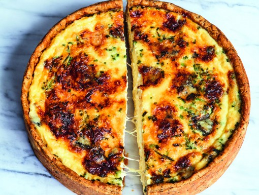 Kaasquiche met vier soorten kaas