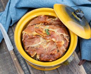 Gehaktbrood met Parmaham