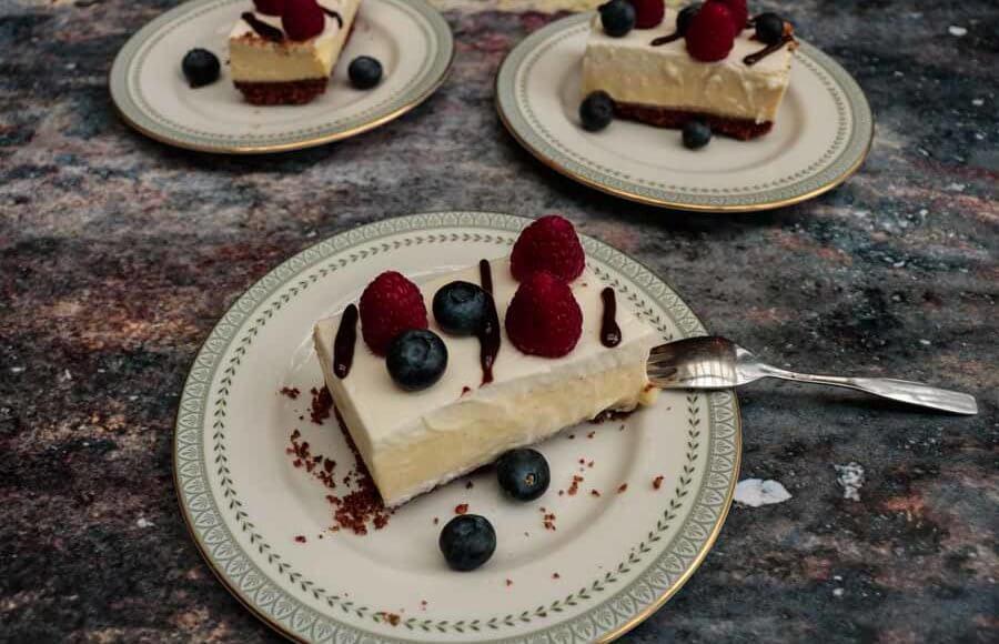 Cheesecake met rood fruit
