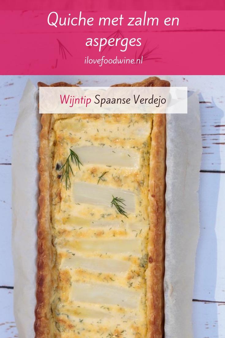 Recept: hartige taart (quiche) met witte asperges en gerookte zalm. Dille zorgt voor fris accent. En met kant-en-klaar bladerdeeg wordt het eenvoudig om te maken. Zowel rond als rechthoekig gegarandeerd succes. Lees het hele recept op de website. #wijnspijscombinatie #feestelijk