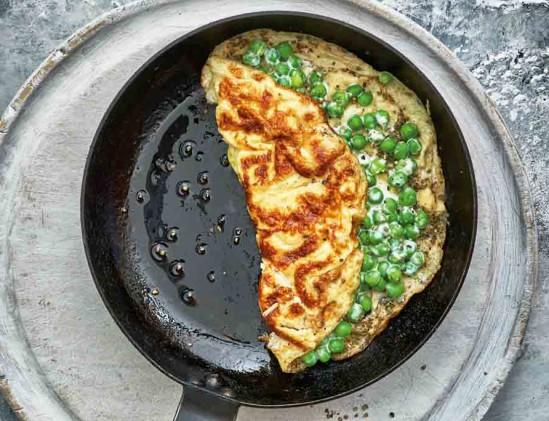 Omelet met doperwten