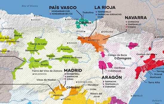 Navarra geografische ligging op kaart