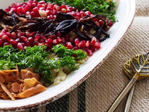 Linzenpasta met ui en koriander uit Mijn Syrische keuken van Zina Abboud