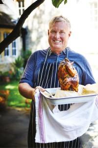 Portret van kookboek schrijver Dan Toombs