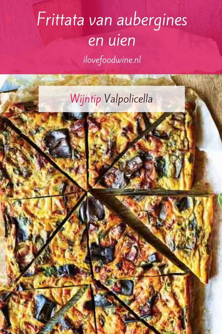Recept: Iraanse plaattaart met aubergine. Het is een soort frittata (omelet), maar heet eigenlijk kuku. Gemaakt met eieren, aubergine, gekaramelliseerde uien en feta. Een recept uit Bazaar; een kookboek van Sabrina Ghayour. #makkelijk #vegetarisch