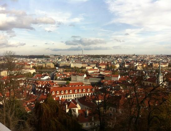Uitzicht op de stad Praag
