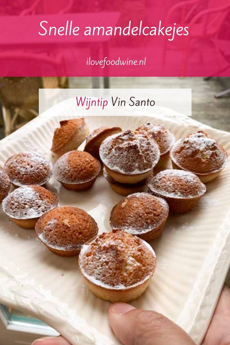 Recept: snelle amandelcakejes die lijken op madeleines of financiers. Maar dan makkelijker! Zo klaar. Heerlijk klein gebakje bij koffie of thee, maar ook lekker bij een glaasje Italiaanse Vin Santo. #koekje #snel #gebak