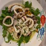 Inktvis salade bij La Paranza in Tarento