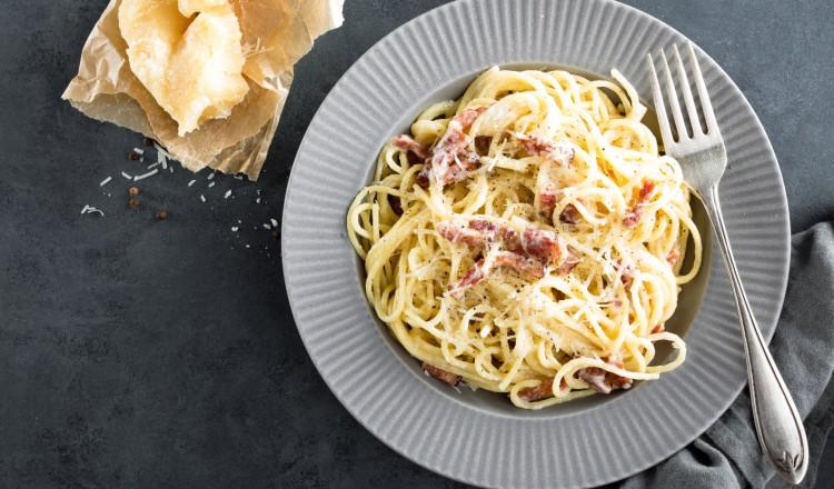 Pasta met Gorgonzola en katenspek