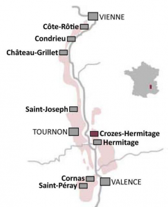 Kaartje Noord-Rhône