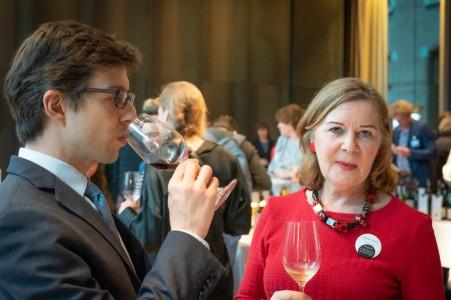 Michèle Laine en de Franse ambassadeur