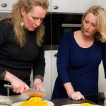 Antoinette Hersenberg met haar Italiaanse kok