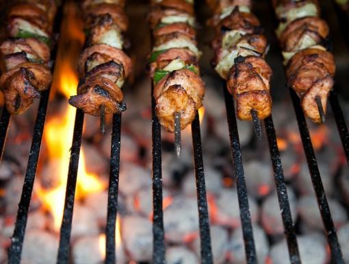 Vleesspies op de BBQ
