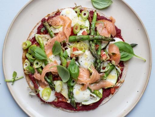 Wrap pizza met zalm uit het kookboek NewFysic
