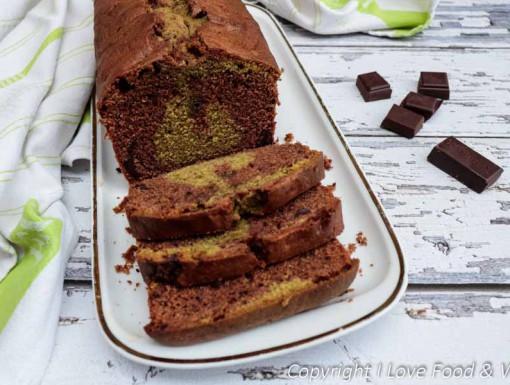 Chocoladecake met matcha