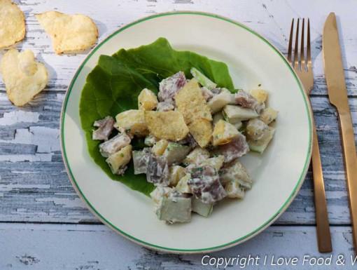 Salade met Nieuwe haring