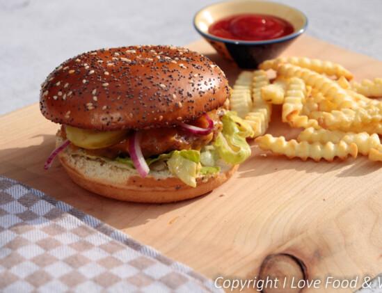Vega broodje hamburger