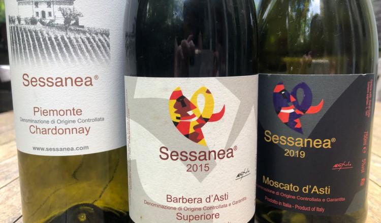 Proefpakket van de wijndomein Sessanea uit Piëmonte