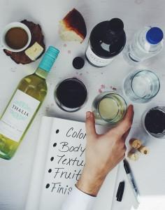 wijn proeven in 5 stappen, schrijf alles op