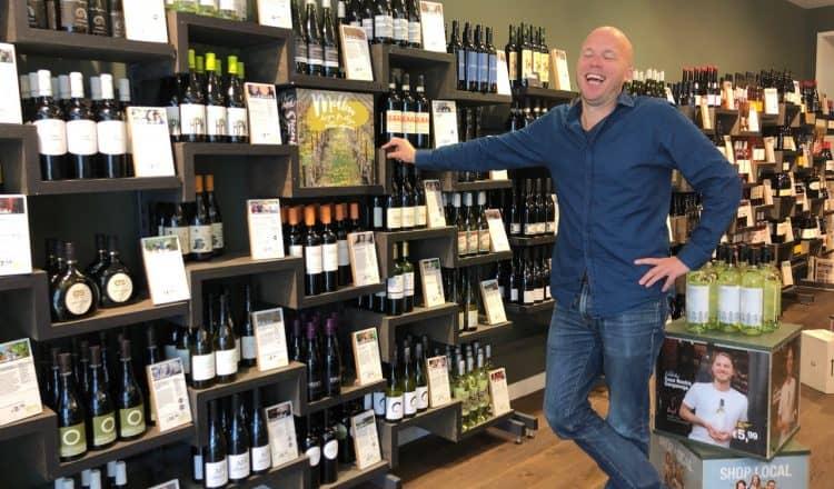 Wijnwinkel Grapedistrict met eigenaar Gijs Groenevelt