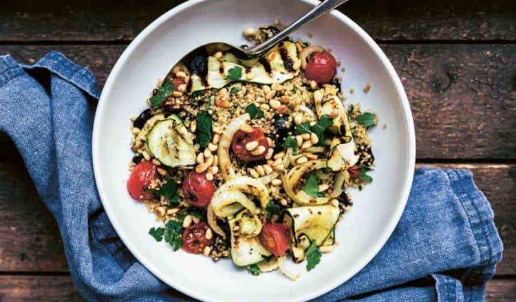 Quinoasalade met geroosterde groenten
