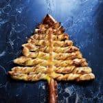 Luxe Kerstboom bladerdeeg hapje staand