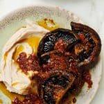 Portobello steaks met limabonen van Ottolenghi