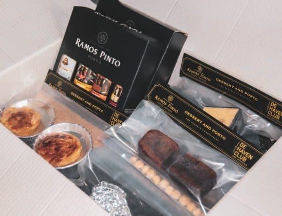Inhoud van de Ramos Pinto dessert box