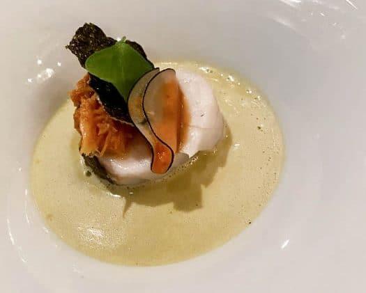 Nastrium kabeljauw in beurre blanc