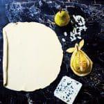 werkwijze perentaart met roquefort