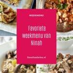 5 favoriete recepten van I Love Food & Wine van mijn dochter Ninah. Van spaghetti bolognese, risotto met paddenstoelen tot aardappelcurry en zalm in bladerdeeg. Uiteraard met een bijpassend glas wijn. #favoriet weekmenu #winters #toprecepten