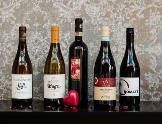 5 wijnen QV Select met menu BRUT172