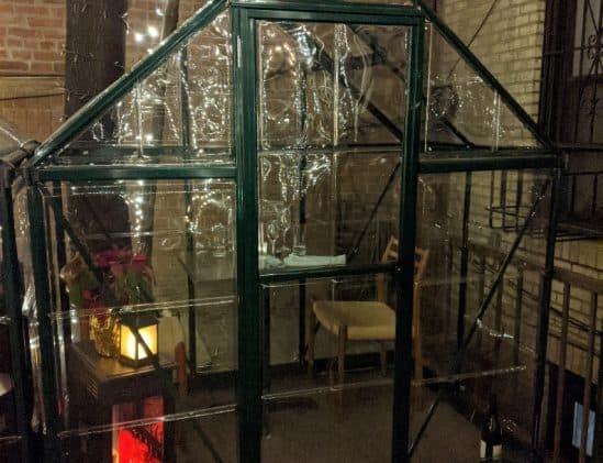 Glazen privékas in New York