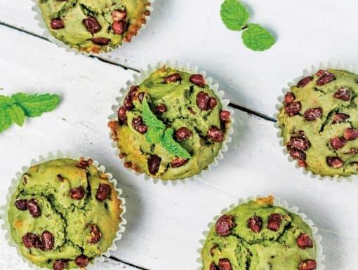 Matcha Cupcakes bakken met suikerpinda's