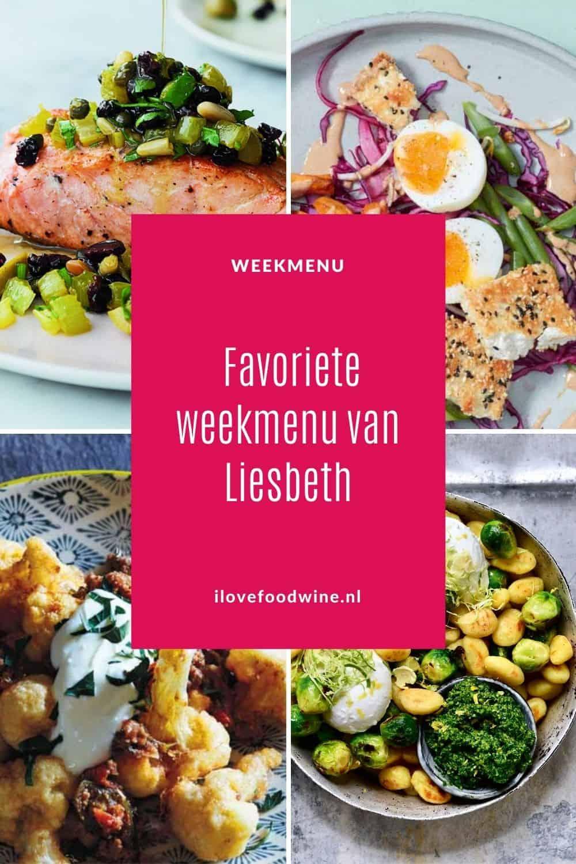 Weekmenu Pinterest 08 Favoriet weekmenu van Liesbeth