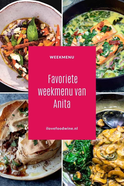 5 favoriete recepten van I Love Food & Wine, uitgezocht door mijn kookboekrecensent Anita Ootjers. Pascale Naessens is haar grote favoriet. Van kalfsmedaillon met mosterdsaus en zalm in gekruide kokosmelk tot kipstoof met dadels en… snelle kersencake. #favoriet #weekmenu #pascalenaessens