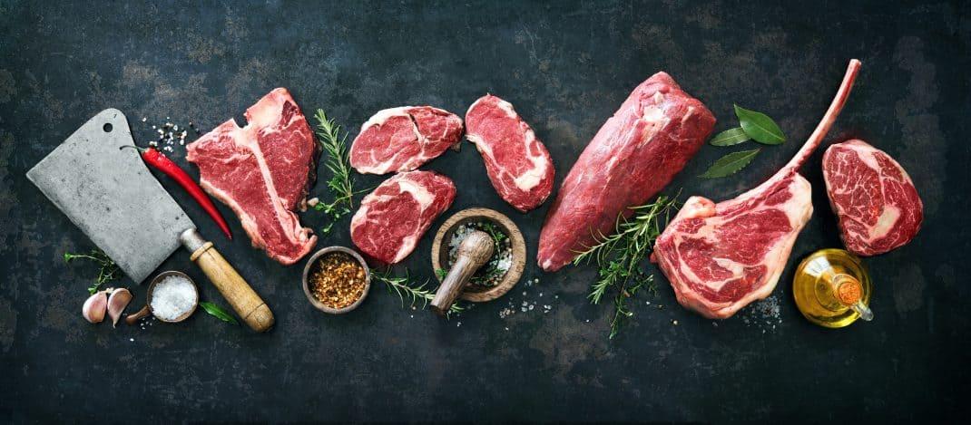 Overzicht van de verschillende stukken rauwe biefstuk
