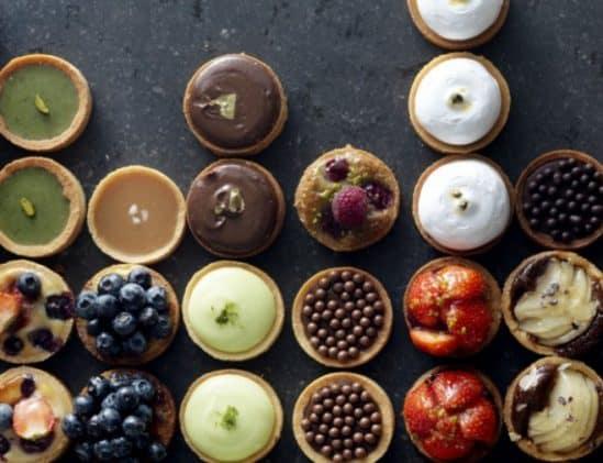 Overzicht van kleine taartjes van Petit Gâteau