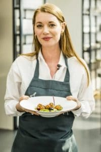 Maaike Swift van Easy Peasy; verantwoordelijk voor het vegetarische menu