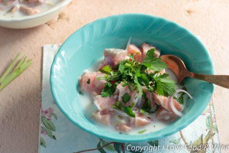 Ceviche van zalm en kokosmelk