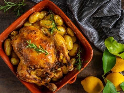 Kip uit de oven met aioli uit het kookboek Extra Vierge van Sandra Alvarez
