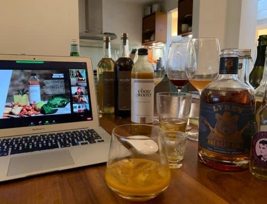 Online zoom proeverij met de alcoholvrije drankjes van Gall & Gall