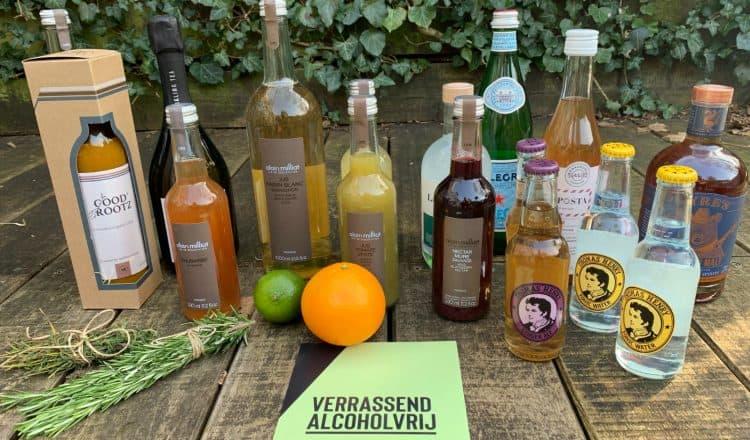 Alcoholvrije alternatieven van Gall & Gall voor de online Zoom workshop